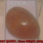 SMOKY QUARTZ CRYSTAL..   23MM..   LC-38